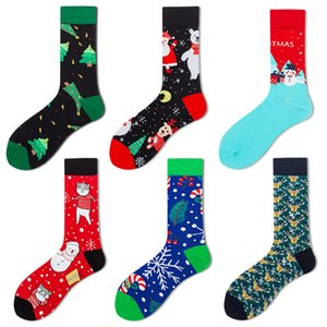 Adulte Noël Chaussettes Hommes Femmes Automne Hiver chaud Bas Gardez mi-mollet Sock Noël Element chaussettes en coton Blends