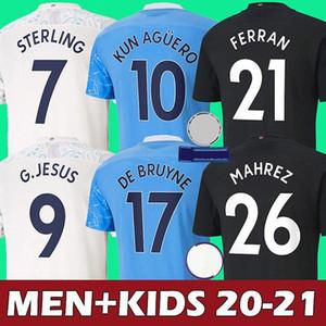 S-4XL 20 21 città Jersey di calcio 2020 2021 camicia dell'uomo STERLING di calcio Manchester KUN AGUERO De Bruyne GESUS BERNARDO Mahrez RODRIGO Uomi bambini