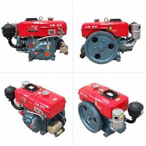 pequeño motor diesel refrigerado por agua de inicio solo cilindro 6/8 caballos de fuerza de la mano / el motor del tractor arranque eléctrico Sz5f #