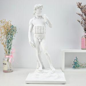Modern Sanat Banksy İntihar David Heykeli Yaratıcı Reçine ArtCraft Karakter Heykel Sokak Soyhut Ev Dekorasyon