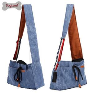 Doglemi Demin Retro Pet Hangbag Dog Cat Puppy Carrier Travel Tote Shoulder Bag Dog Sling Bag