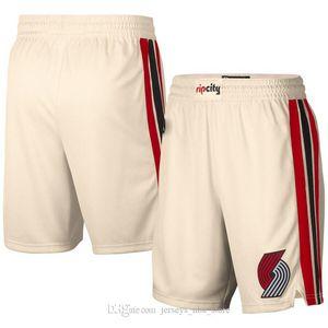 19-20 nova temporada homens s PortlandTrailBlazers versão da cidade de calças de bola de arroz branco