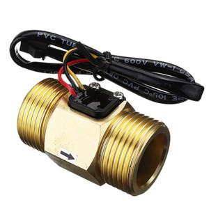 Hot Dc5V G1 Dn25 Copper Water Flow Sensor Hall Effect Pulse Output 4-45L Min Liquid Switch Flowmeter