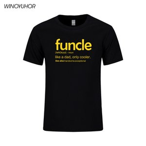Mens Funcle Definition T-shirt Funny Gift For Uncle Proud A Uncle Tees Like A Dad Only Cooler T Shirt Soft Cotton Tops