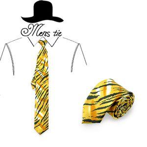 Men Ties 5cm 2inch Neckties Men Women Skinny Polyester Zebra Stripe Yellow Party Gift Wedding Shirts Cravat Dropshipping Design