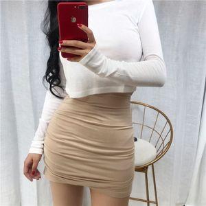 B0DlZ EjUoj Lianda производит 2020 новый корейский стиль Lianda мелководных Время производства хип талии плиссированной ЖЕНСКИЕ Mofu женские высокие светло-Метры