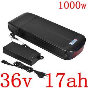 36V 500W 1000W traseira da cremalheira Ebike bateria 17AH bicicleta elétrica de iões de lítio Use LG / celular Panasonic