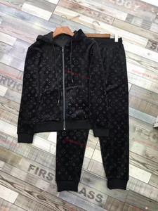 Louis Vuitton casual outfit 2020 Top Luxe pantalons sport à capuche Survêtement Hommes + Ensembles Survêtements 2PCS deportivo sport à capuche Costume Jogger Casual