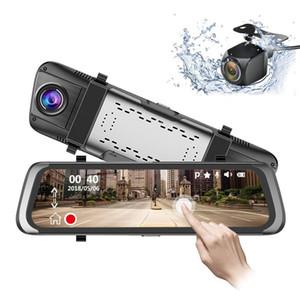 HD 1080P tactile voiture DVR Rearview Mirror Sprint Caméra Vidéo Recorder Driving Tachymètre Anti-vol Sécurité streaming Media Player