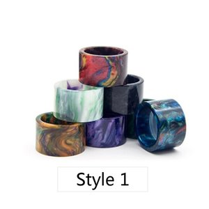 COMB Pattern Resin Grid Wave Drip Tips Mouthpiece for TFV8 BABY V2 TFV16 Stick V9 Max Kit Tank Atomizer 2 Styles
