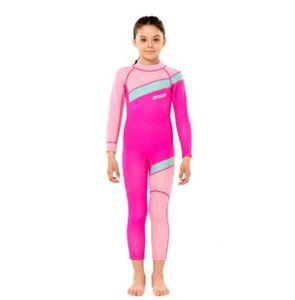 tek parça şnorkel rashguard wetsuit sörf çocuklar dalış elbisesi çocuk mayosu uzun kollu için Hisea Neopren