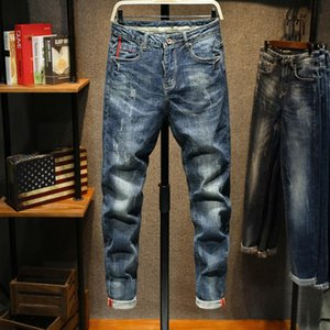 New Fashion Brand men Slim Fit Jeans Autumn and Winter Retro Blue Stretch Fashion Pockets Desinger Men Fashions Casaul Man Jeans