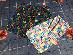 primavera e l'estate 19ss pantaloni nuovi bicchierini casuali degli uomini di stampa di lettera Palm PA Angeli tie-dye cinque punti da spiaggia M-3XL