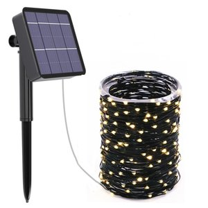 20M 200 LED Solar Strip Light Home Garden PVC Waterproof Copper Wire Light String Fairy Outdoor Solar Powered Christmas Party Decor