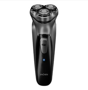 Erkekler Hediye Electric Shavers için Koruma Razor Engelleme Enchen Elektrikli tıraş makinesi Siyah Taş 3D Smart Kontrol
