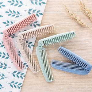 Foldable Hair Comb Brush Anti-static Hairbrush Portable Travel Hair Brush Wheat Straw Folding Hairdressing Styling Tool