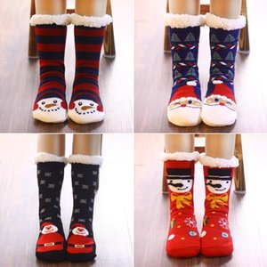 9style Christmas decoration family floor socks adult winter indoor antiskid warm socks thickened wool shoes and socks T500273