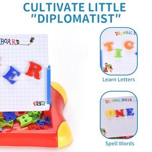 Renkli Manyetik Sihirli Çizim Kurulu Yaratıcı Oyuncak ve Sketch Silinebilir Pad Yazma Çocuklar küçük çizim tahtası bulmaca erken eğitim oyuncaklar