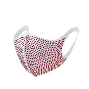 Fashion Colorful Mesh Face Masks Bling Diamond Party Mask Rhinestone Grid Net Mask Washable Sexy Hollow Mask for Women YYA1451