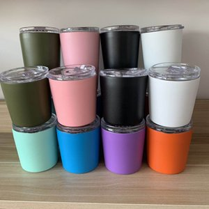 8oz 12oz 8 Styles Stainless Steel Vacuum Insulated Drinking Coffee Beer Mug Double Wall Portable Kids Milk Cup with Lids For Home Camping