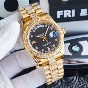 erkekler saatler 41 mm otomatik hareket 904L paslanmaz çelik erkek montre de luxe diamond watch saatler rolex