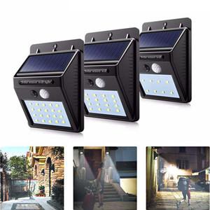 16 20 30 LED im Freien Solarwand-Lampe wasserdicht PIR Bewegungs-Sensor-Garten-Licht Solar-Scheinwerfer Straßenlaterne für Yard Fence Yard Pfad