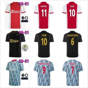 2021 عدد المعجبين لاعب اياكس كرة القدم جيرسي 50TH الذكرى تاديتش Ziyech فان دي بيك neres أمستردام 20 21 مايوه كرة القدم قمصان الرجال الاطفال موحدة