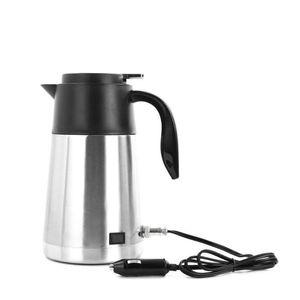 12v / 24v 750мл / 1300 мл Электрический чайник автомобилей кипящий котел из нержавеющей стали с прикуривателя Авто аксессуары для кофе T190619