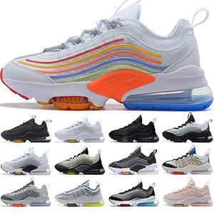 ZM950 Hombres Mujeres Zapatos Negro Triple Oreo neón blanco de la plata del arco iris 950s para hombre entrenadores deportivos zapatillas de deporte Zapatos Tamaño 36-45 Running