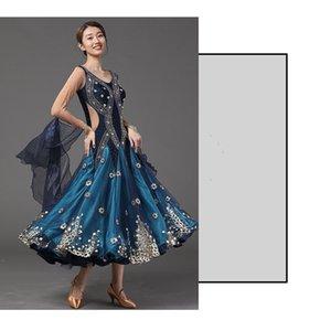 Balo Dans Salıncak Elbise Performans Ballroom Dance Elbise Yeni Waltz Kostüm Modern Dans-MD5001