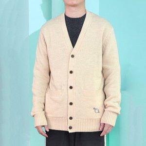 20FW lettera classica Pin ricamo di lavoro a maglia semplice giacca con scollo a V Felpa High Street Uomo Donna Autunno Inverno maglione Outwear HFYMMY072