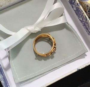 Новый стиль кольцо для женщины Diamond Forming кольцо высокого качества латунная буква шарм кольцо мода ювелирных изделий
