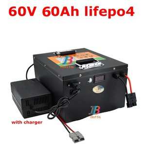 waterproof lithium 60v 60ah lifepo4 battery 60A BMS for 3500w 1500w bicycle bike scooter Tricycle backup power +10A charger