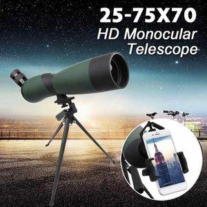 Cgjxs25 -75x70 Hd Lens Monoküler Teleskop Tripod Cep telefonu Gece Görüş Açık Suya Teleskoplar T191022 Klip