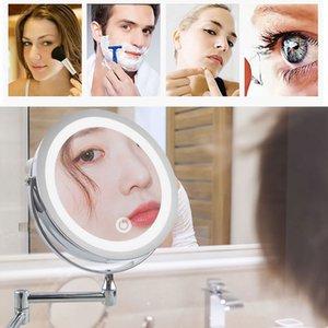 """8.5"""" LED Vanity specchio da trucco chiaro Bathroom Wall ingrandimento trucco dello specchio con luce US Plug UE"""