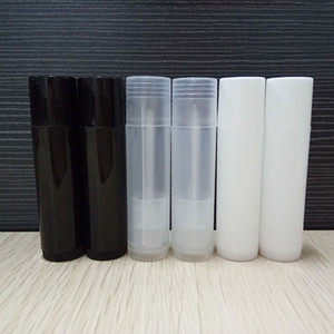 5g Cosmetic Empty Chapstick Lip Gloss Lipstick Balm Tube and Caps Container black white clear color OWF1282