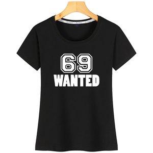 69 Se busca camisa Interesante mujeres divertidas T corto SleeveDesigns Moda