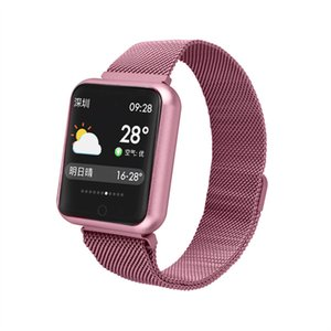 P68 Smart Watch Women Sports Fitness Tracker Blood Pressure Heart Rate Monitor IP68 Waterproof Smartwatch Connect Android IOS