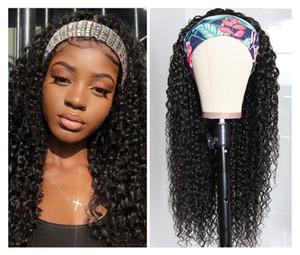 Beaudiva cheveux bouclés perruque de cheveux humains Bandeau facile perruque moitié brésilienne Kinky Curly Bandeau On dirait REAL naturel