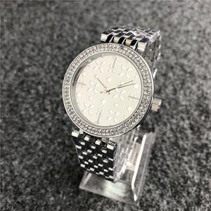 2020 reloj de mujer las nuevas señoras de cuero de lujo de la marca de vestir relojes mujer reloj pulsera de diamantes llena las mujeres de plata del Rhinestone reloj de pulsera