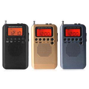 Radio Portable Portable AM / FM Stéréo Stéréo HRD-104 Poche Digital Digital Mini récepteur avec lanière à écouteurs