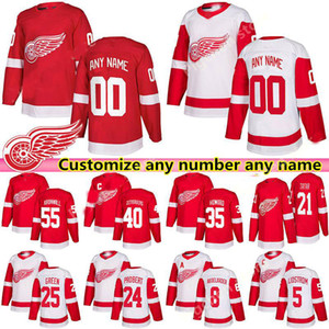 Detroit Red Wings Jersey 13 Pavel Dazke 19 Steve Izerman 71 Dylan Larkin Probert 8 Justin Abdelkhad Nicklas Lidstrom Custom Hockey Jersey