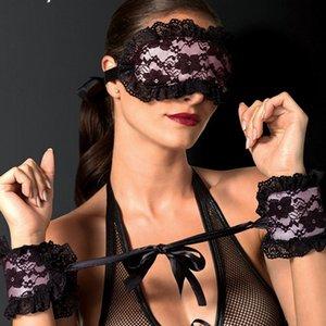 JPnX7 Bound vincolante flirtare braccialetto in pizzo adulta flirtare accessori della biancheria intima sexy sexy maschera per gli occhi Bracciale accessori Underwear