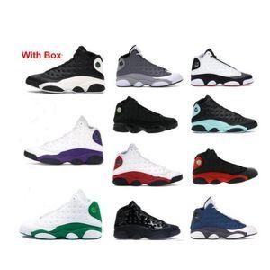 Mit Box-Basketball-Schuhe 2020 Flint Reverse-He Got 13 13S Black Cat Bred Ray Allen PE Atmosphäre Grau Männer Turnschuhe