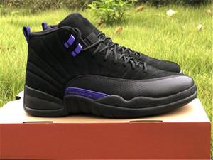 2020 Authentic 12 scuro Concord fibra Nero Viola 12S reale Carbon uomini dei pattini di pallacanestro delle scarpe da tennis di sport con la scatola originale CT8013-005
