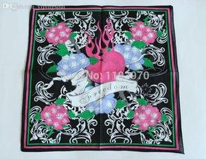 Wholesale-free shipping hip-hop bandanas for Unisex head scarf printed rose Scarves kerchief Cotton 100%----SKTJ046