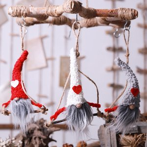 Merry Christmas Hang Swing no face toy doll Santa Claus tree decorations gift Snowman Pendant Ornament Enfeites De Natal