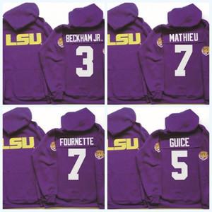 3 أوديل بيكهام الابن LSU نمور هوديي 5 Derrius Guice 7 ليونارد فورنيت 7 تيران ماثييو NCAA كلية لكرة القدم جيرسي شحن سريع
