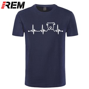 Lustiges Pitbull Herzschlag T-Shirt Cute Pitbull-Hunde-T-Shirt Mann Design Hundeliebhaber perfekter Geschenk-T-Shirt Neue Ankunfts-heißen Verkauf