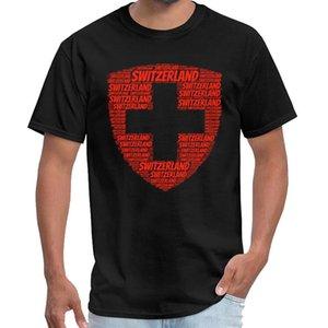 Fitness Wappen der Schweiz T-Shirt homme coton Männer-T-Shirt Vintage-s-6xl Hip-Hop